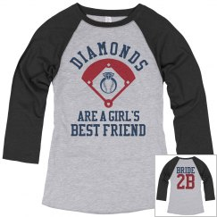 Funny Baseball Bachelorette Party Diamonds Shirts