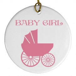 Baby Girl Ornament