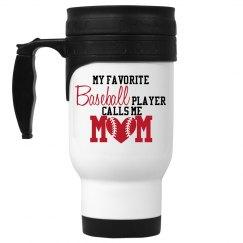 Baseball Mom-Favorite player cup