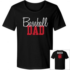 Baseball Dad - enter name and number