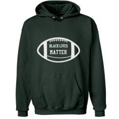Football Black Lives Matter Hoodie - White Detail