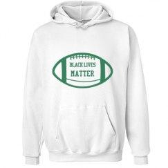 Football Black Lives Matter Hoodie - Green Detail