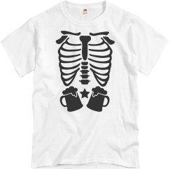Skeleton Beer Belly Shirt