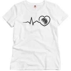 Heart beat basketball shirt