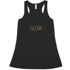 Glow Flowy Gold Metallic Tank