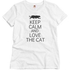 keep calm love the cat