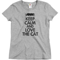 keep calm love the cat