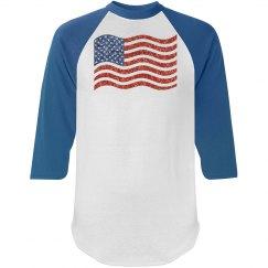 glitter american flag