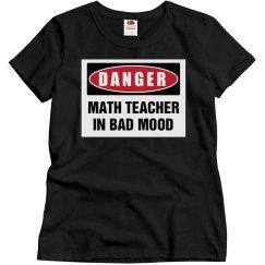 Math Teacher in bad mood
