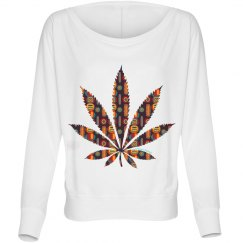 Y-Tribal Cannabis Leaf