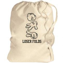 Loser Folds Laundry