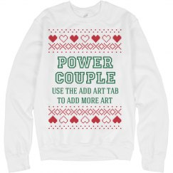 Custom Xmas Sweater: Power Couple