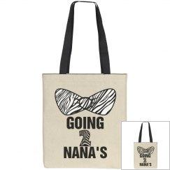 Going To Nanas Zebra Bow
