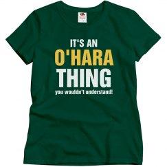 It's an O'Hara thing