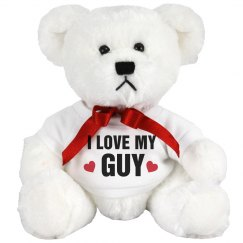 I Love My Guy Cute Bear Gift