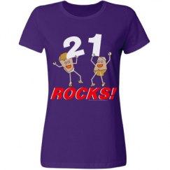 21 Rocks White Text