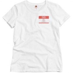 Misses Tony Name Shirt