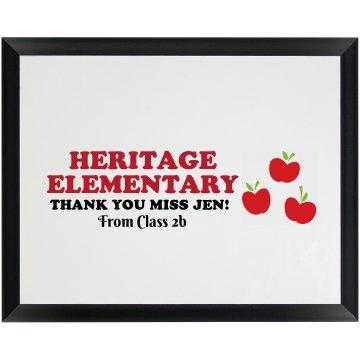 Autograph Teacher Gift
