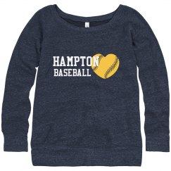 Hampton Bball Heart Sweat