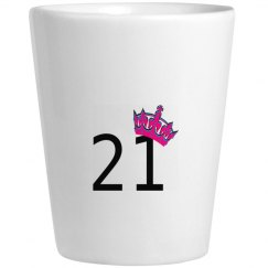 21 Party Shot Glass