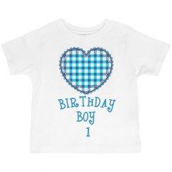 Birthday boy is 1