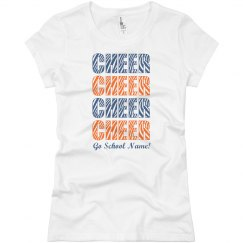 School Colors Cheer Tee
