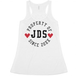 Custom Initials Valentine's Day Crop