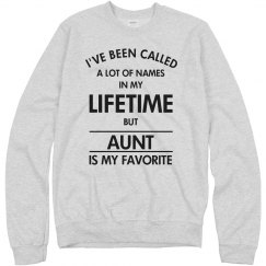 Aunt is my favorite name