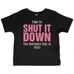 Birthday girl is five