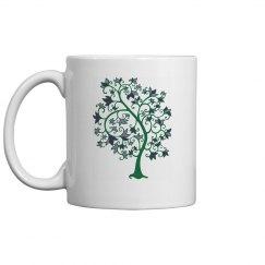 springtime leafy tree mug