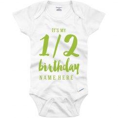 Custom One Half Birthday
