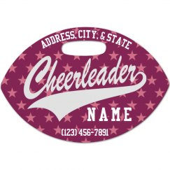 Cheerleading Football Tag