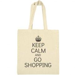 Keep calm go shopping