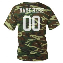 Custom Camo Football Name/Number