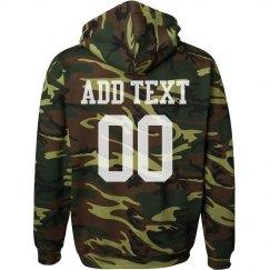 Custom Camo Football Sweatshirt