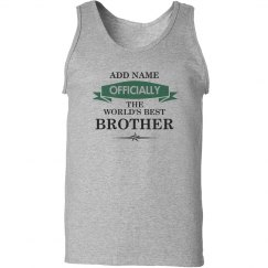 World's best brother tank top