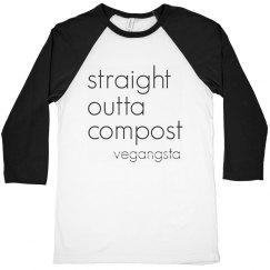 straight outta... raglan crop