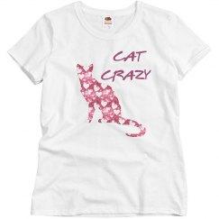 Cat Crazy Hearts