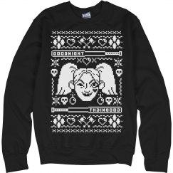 Black Harley Quinn Ugly Sweater