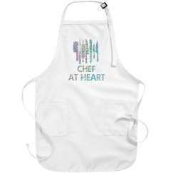 Glittery Chef At Heart Apron