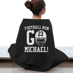 Trendy Warm Football Mom Custom Blankets