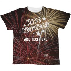 Custom Miss Independent Firecracker Print