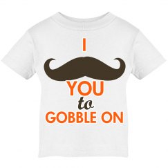 Mustache gobble on tee