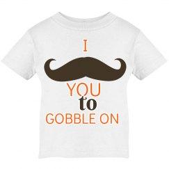 Mustache gobble on tee
