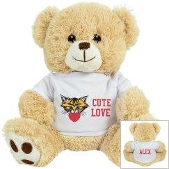 Cute love cuddly toy
