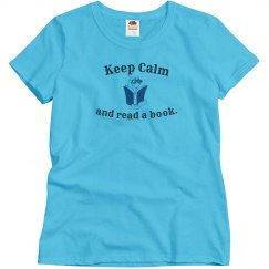 Keep Calm Read - w blue