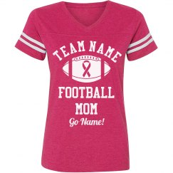 Cancer Awareness Football Mom
