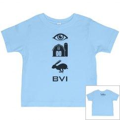 Eye, Barn, Hare BVI Toddler Top