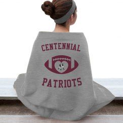 Centennial Patriots Football Blanket