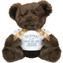 Easter Jesus Quote Gift Bear